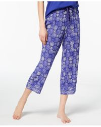 Charter Club - Cotton Printed Pyjama Trousers, Created For Macy's - Lyst