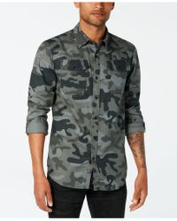 G-Star RAW - Landoh Camouflage-print Shirt, Created For Macy's - Lyst