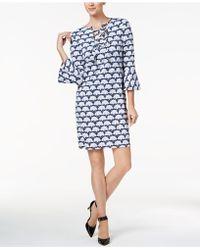 Charter Club - Floral-print Shift Dress - Lyst
