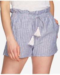 1.STATE - Striped Paperbag Shorts - Lyst