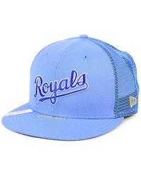 super popular 185c1 6f66b Sports Licensed Division Adidas Kansas Jayhawks Stacked Box Snapback Cap in  Blue for Men - Lyst