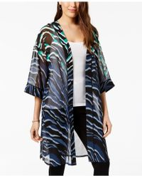 Alfani - Printed Sheer Kimono Jacket, Created For Macy's - Lyst