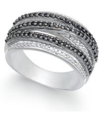 Macy's - Certified Diamond Weave-style Statement Ring (1/2 Ct. T.w.) In Sterling Silver - Lyst
