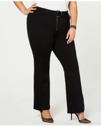 d490a4db20d67 INC International Concepts - I.n.c. Petite Plus Size Belted Ponte Bootcut  Pants, Created For Macy's