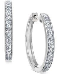 3b90e122d Lyst - Margo Morrison Baroque Pearl Drop Earrings With Diamonds in White