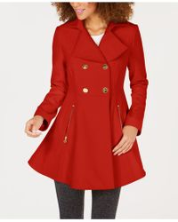 Laundry by Shelli Segal - Double-breasted Skirted Peacoat - Lyst