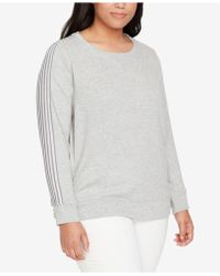 William Rast - Trendy Plus Size Striped-back Sweatshirt - Lyst