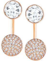Swarovski - Crystal And Pavé Earring Jacket Earrings - Lyst