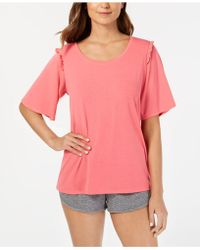 Hue - ® Bell Ruffled-sleeve Sleep Top - Lyst