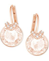 Swarovski - Clear & Colored Crystal Drop Earrings - Lyst