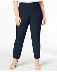 Charter Club - Plus Size Chelsea Tummy-control Skinny Leg Pull-on Ankle Trousers, Created For Macy's - Lyst