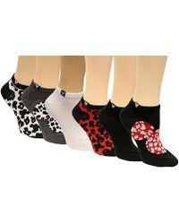 Disney | Women's 6-pk. Minnie Mouse Cheetah No-show Socks | Lyst