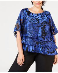 Alex Evenings - Plus Size Printed Tiered Top - Lyst