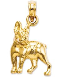 Macy's - 14k Gold Charm, Boston Terrier Dog Charm - Lyst