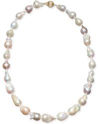 "Macy's - Multicolor Cultured Baroque Freshwater Pearl (9-11mm) 17"" Collar Necklace - Lyst"