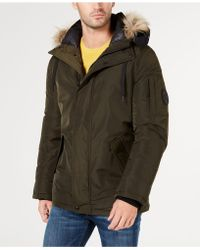 Calvin Klein - Snorkel Jacket With Faux-fur Trim - Lyst