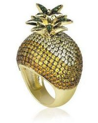 Noir Jewelry - Cubic Zirconia Pineapple Cocktail Ring - Lyst