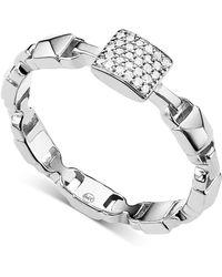 Michael Kors - Mercer Link Sterling Silver Ring - Lyst