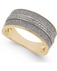 Macy's - Diamond Glitter Ring (1/8 Ct. T.w.) In 18k Gold-plated Sterling Silver - Lyst