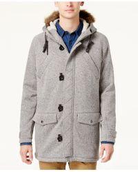 American Rag - Men's Fleece Parka With Removable Hood - Lyst