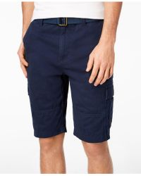 American Rag - Belted Relaxed Cargo Shorts, Created For Macy's - Lyst