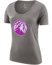 5792b25d7a104 Lyst - Nike Women's Minnesota Vikings Stadium Football T-shirt in Gray
