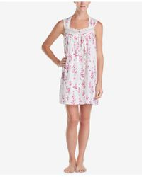 Eileen West - Lace-trim Woven Cotton Nightgown - Lyst