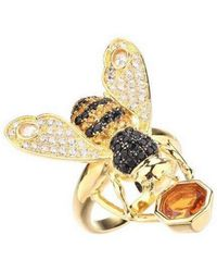 Noir Jewelry - Cubic Zirconia Bee Ring - Lyst