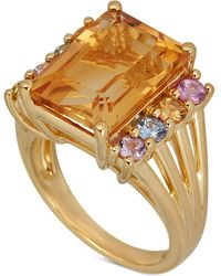 Macy's - Multi-gemstone Ring (7-5/8 Ct. T.w.) In 14k Gold-plated Sterling Silver - Lyst
