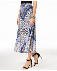 INC International Concepts - I.n.c. Printed Shirred-waist Skirt, Created For Macy's - Lyst