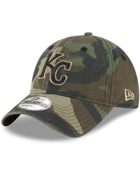 finest selection f85e1 b0d6a KTZ Kansas City Royals Leather Patch 59fifty-fitted Cap in Green for Men -  Lyst
