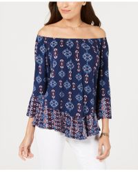 Style & Co. - Printed Off-the-shoulder Top, Created For Macy's - Lyst