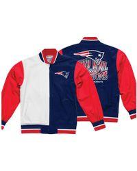 44ec42f2489 Mitchell   Ness - New England Patriots Team History Warm Up Jacket 2 - Lyst