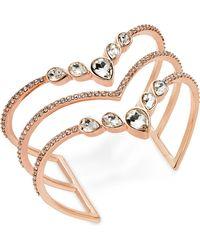 INC International Concepts - I.n.c. Rose Gold-tone Crystal Triple-row Cuff Bracelet, Created For Macy's - Lyst
