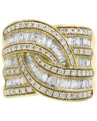 Effy Collection - Diamond Wide-style Ring (1-1/2 Ct. T.w.) In 14k Gold Or White Gold - Lyst