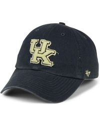 47 Brand - Kentucky Wildcats Double Out Clean Up Cap - Lyst