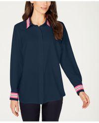 5fd1e9e3179f5 Lyst - Charter Club Petite Sleeveless Shirt