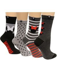 Disney - Women's 4-pk. Minnie Mouse Assorted Dotted Stripes Socks - Lyst
