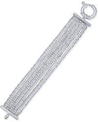 Macy's - Multi-chain Beaded Bracelet In Sterling Silver - Lyst