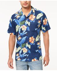 Tommy Bahama - Hibiscus Tropics Floral-print Silk Shirt, Created For Macy's - Lyst