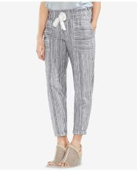 Vince Camuto - Striped Drawstring Trousers - Lyst