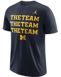 1237c7412cbe83 Lyst - Nike Michigan Wolverines Re2pect Above All T-shirt in Blue ...
