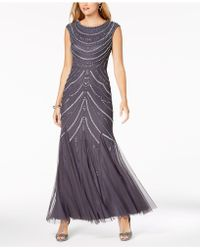 Adrianna Papell - Beaded Gown - Lyst