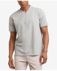 Kenneth Cole - Quarter Zip T-shirt - Lyst