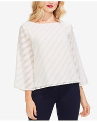 Vince Camuto - Diagonal Striped Scoop-neck Top - Lyst