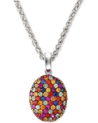 Effy Collection - Balissima By Effy Multi-color Sapphire Pendant Necklace In Sterling Silver (3-1/10 Ct. T.w.) - Lyst