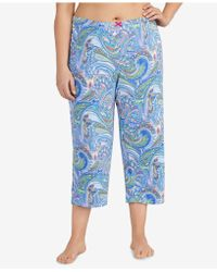 Ellen Tracy - Plus Size Printed Cropped Pajama Pants - Lyst