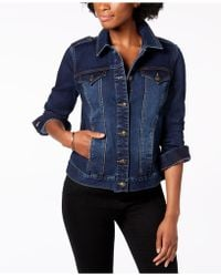 Charter Club - Shoulder Epaulette Jean Jacket, Created For Macy's - Lyst