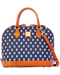 Dooney & Bourke - Detroit Tigers Zip Satchel - Lyst