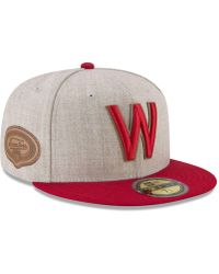 new product 8a09d 39c5d KTZ - Washington Senators Leather Ultimate Patch Collection 59fifty Fitted  Cap - Lyst
